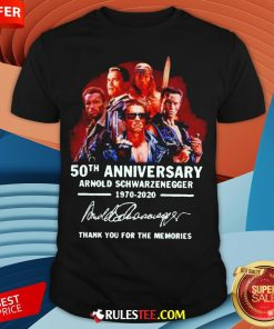 Arnold Schwarzenegger 50th Anniversary Thank You For The Memories Shirt - Design By Rulestee.com