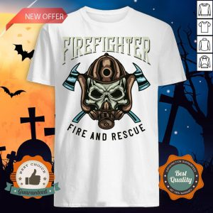 Halloween Firefighter Rescue Fire And Rescue Shirt