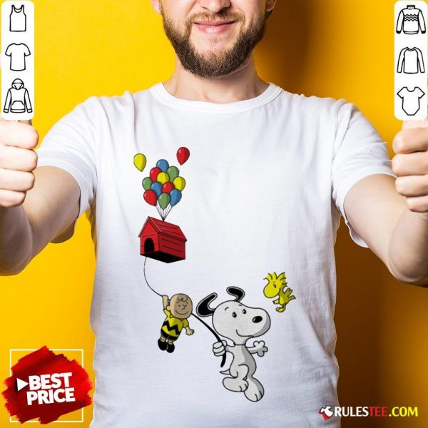 Snoopy And Charlie Brown Woodstock Balloon Shirt - Design By Rulestee.com