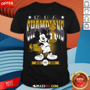 Lakers 2020 NBA Champions Mickey Mouse Shirt - Design By Rulestee.com