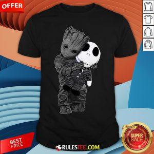 Cute Baby Groot Hug Jack Skellington Shirt - Design By Rulestee.com