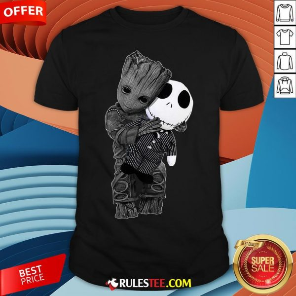 Cute Baby Groot Hug Jack Skellington Shirt - Design By Rulestee.com