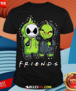 Baby Jack Skeleton And Baby Green Friends Light Christmas Shirt - Design By Rulestee.com