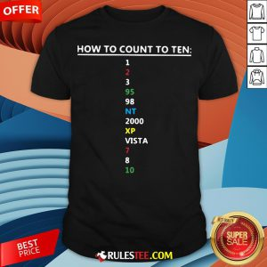 Colorful How To Count To Ten In Software Shirt - Design By Rulestee.com