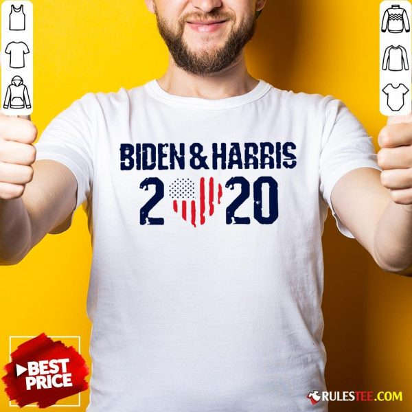 Joe Biden And Harris 2020 Love American Flag Shirt