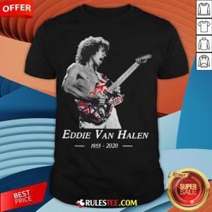 Premium Rip Eddie Van Halen 1955 2020 Shirt - Design By Rulestee.com