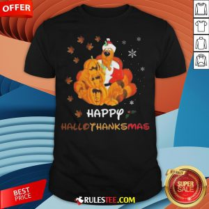 Scooby Doo Happy Hallothanksmas Christmas Halloween Shirt - Design By Rulestee.com