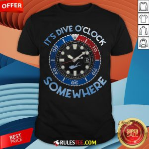 Awesome Scuba Diving It's Five O'clock Somewhere Shirt - Design By Rulestee.com