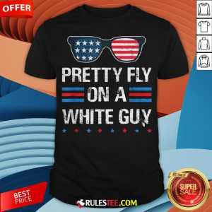 Nice Glasses Pretty Fly On A White Guy Shirt - Design By Rulestee.com