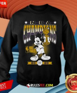 Lakers 2020 NBA Champions Mickey Mouse Sweatshirt - Design By Rulestee.com