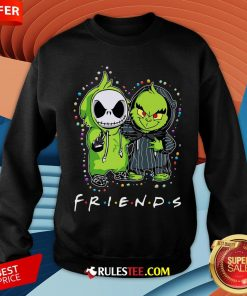Baby Jack Skeleton And Baby Green Friends Light Christmas Sweatshirt - Design By Rulestee.com