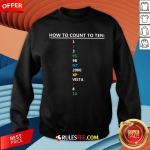 Colorful How To Count To Ten In Software Sweatshirt - Design By Rulestee.com