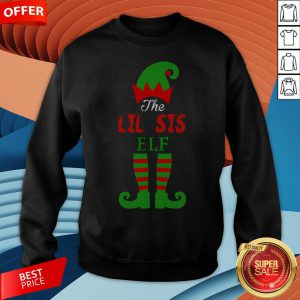 Cute The Lil Sis Elf Christmas Sweatshirt