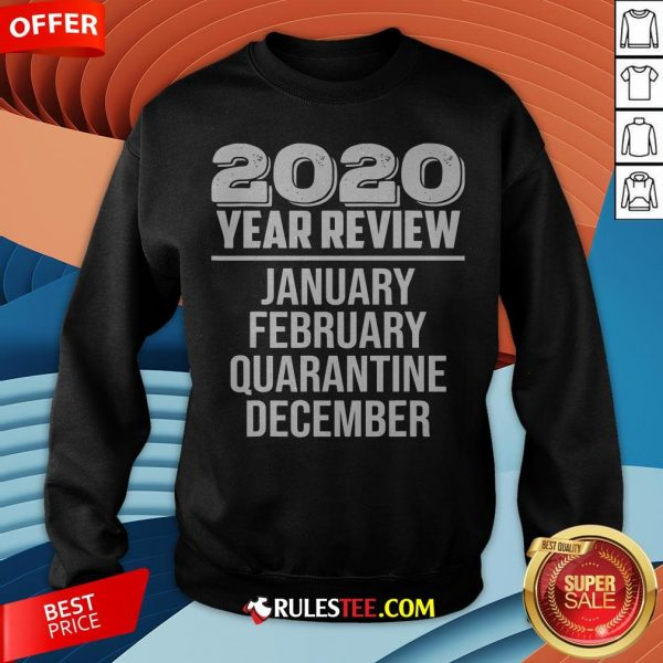 2020 Year Review January February Quarantine December Sweatshirt - Design By Rulestee.com