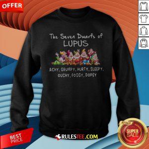 The Seven Dwarfs Of Lupus Achy Grumpy Hurty Sleepy Ouchy Foggy Dopey Sweatshirt - Design By Rulestee.com