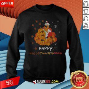 Scooby Doo Happy Hallothanksmas Christmas Halloween Sweatshirt - Design By Rulestee.com