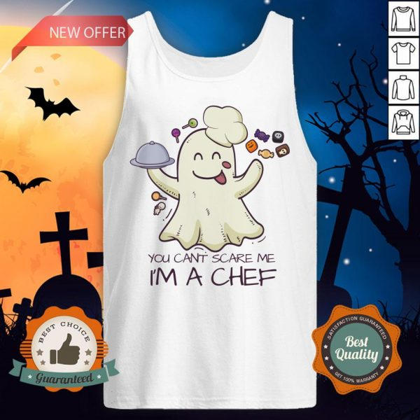 You Can't Scare Me I'm A Chef Boo Halloween Tank Top