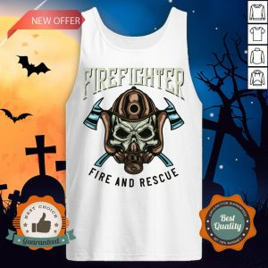 Halloween Firefighter Rescue Fire And Rescue Tank Top