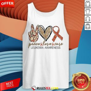 Peace Love Cure Leukemia Awareness Diamond Tank Top - Design By Rulestee.com
