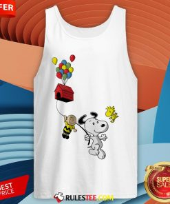 Snoopy And Charlie Brown Woodstock Balloon Tank Top - Design By Rulestee.com