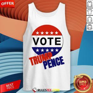 Nice Vote Trump-Pence American Flag Tank Top - Design By Rulestee.com