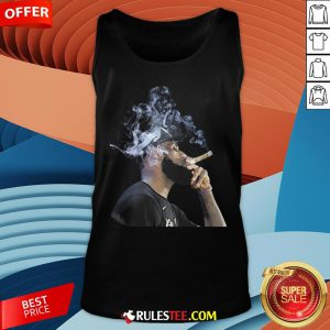 Pretty Lebron James Smoking Cigar Tank Top - Design By Rulestee.com