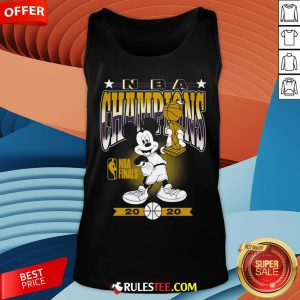Lakers 2020 NBA Champions Mickey Mouse Tank Top - Design By Rulestee.com