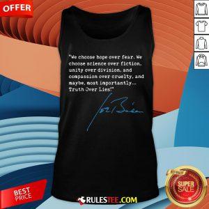 Top Truth Over Lies Joe Biden 2020 Tank Top - Design By Rulestee.com