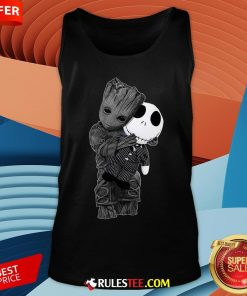 Cute Baby Groot Hug Jack Skellington Tank Top - Design By Rulestee.com