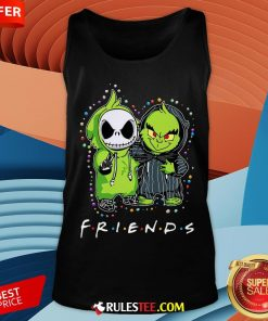 Baby Jack Skeleton And Baby Green Friends Light Christmas Tank Top - Design By Rulestee.com
