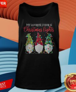 Gnomes My Favorite Color Is Christmas Lights Tank Top