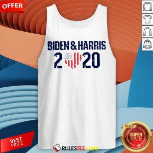 Joe Biden And Harris 2020 Love American Flag Tank Top