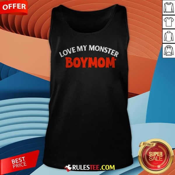 Good Love My Monster Boymom Halloween Tank Top