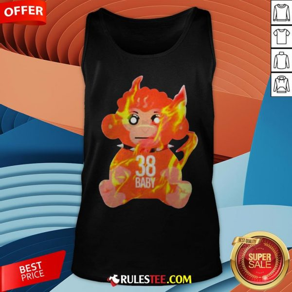 Burning Monkey Doll Never Broke Again 38 Baby Tank Top