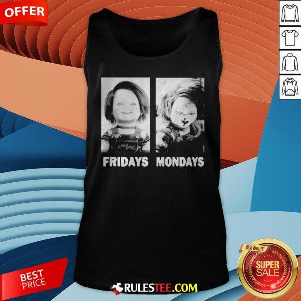 Chucky Doll Fridays And Mondays Halloween Tank Top