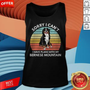 I Just Wanna Drink Wine And Pet My Bernese Mountain Vintage Retro Tank Top