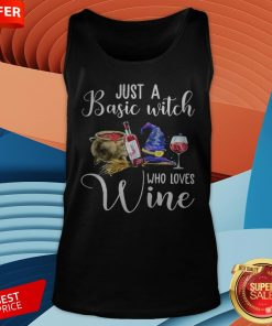 Official Just A Basic Witch Who Loves Wine Tank Top