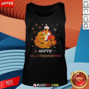 Scooby Doo Happy Hallothanksmas Christmas Halloween Tank Top - Design By Rulestee.com