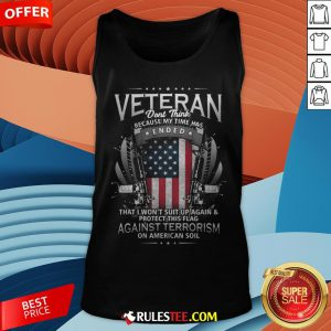 Veteran Ended Against Terrorism On American Soil America Flag Tank Top - Design By Rulestee.com