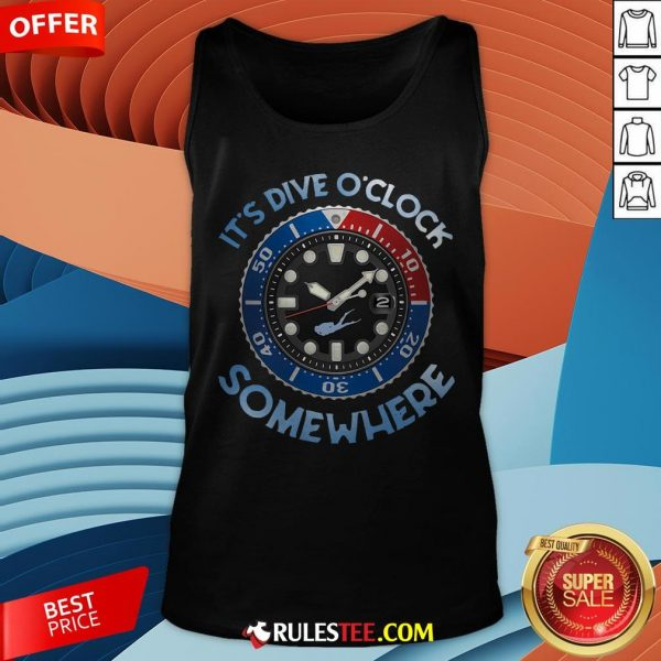 Awesome Scuba Diving It's Five O'clock Somewhere Tank Top - Design By Rulestee.com