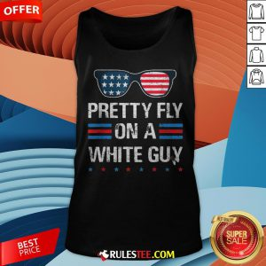 Nice Glasses Pretty Fly On A White Guy Tank Top - Design By Rulestee.com