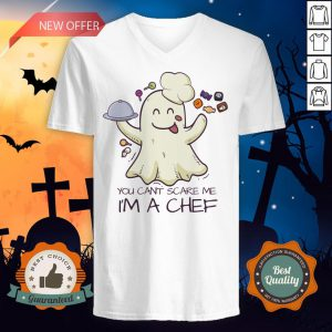 You Can't Scare Me I'm A Chef Boo Halloween V-neck