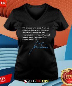 Top Truth Over Lies Joe Biden 2020 V-neck - Design By Rulestee.com
