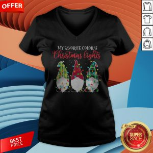 Gnomes My Favorite Color Is Christmas Lights V-neck