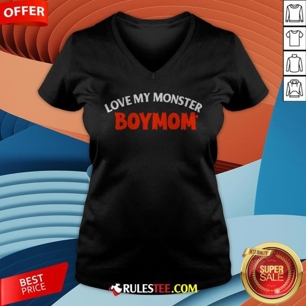 Good Love My Monster Boymom Halloween V-neck