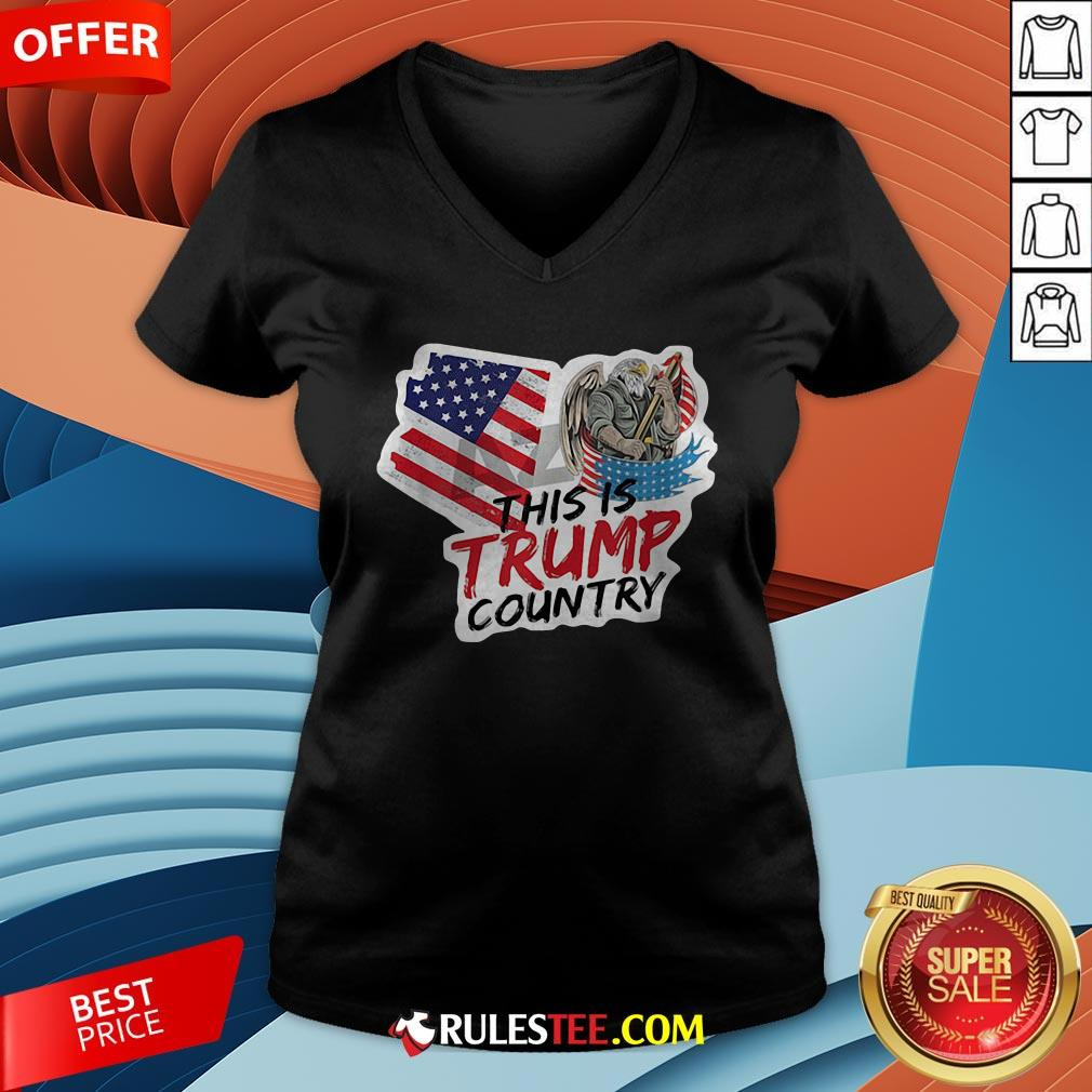 This Is Trump Country Supporter Arizona Political America Flag V-neck - Design By Rulestee.com
