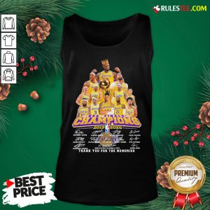Awesome Los Angeles Lakers 2019-2020 NBA Finals Champions Thank You For The Memories Signatures Tank Top - Design By Rulestee.com