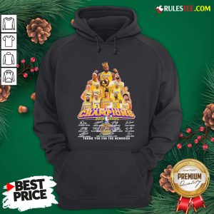Awesome Los Angeles Lakers 2019-2020 NBA Finals Champions Thank You For The Memories Signatures Hoodie - Design By Rulestee.com