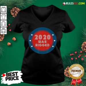 Awesome Election Rigged 2020 Voter Fraud V-neck- Design By Rulestee.com