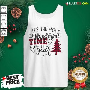 Awesome It's The Most Wonderful Time Of The Year Christmas Tank Top - Design By Rulestee.com